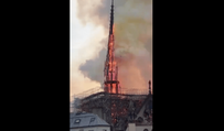 Notre-Dame cathedral in Paris on fire!