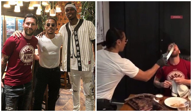 Nusret'ten Lionel Messi ve Paul Pogba'ya saltbae!